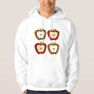 Moleton Com Capuz Quarteto de Apple da xadrez