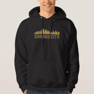 Moleton Com Capuz Skyline de Kansas City Kansas do estilo do vintage
