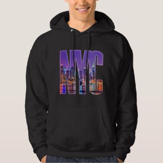 Moleton Com Capuz Skyline de NYC (luz)