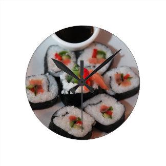 Molho do restaurante japonês do sushi relógios para paredes