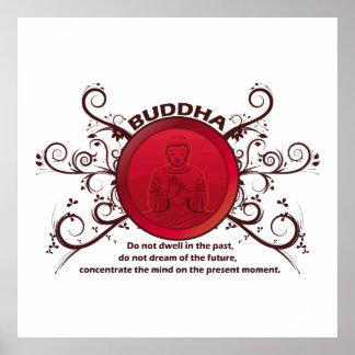 Momento atual de Buddha Poster