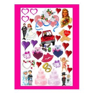 Momentos do casamento cartoes postais