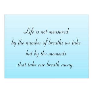 Momentos que removem nossa respiração cartão postal