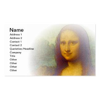 Mona Lisa Cartão De Visita