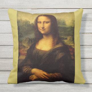 Mona Lisa por Leonardo da Vinci Almofada Para Ambientes Externos