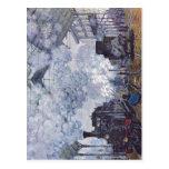 Monet, santo Lazare de Claude Bahnhof em Paris, An Cartao Postal