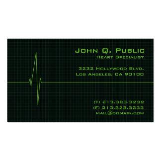 Monitor de coração médico cartão de visita