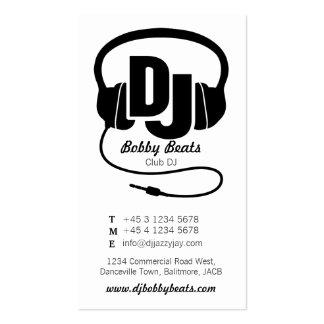 Mono cartão de visita preto & branco do promotor