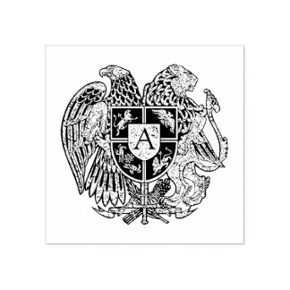Monograma arménio da brasão carimbo de borracha
