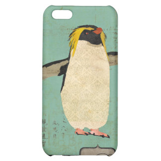 Monograma azul da lagoa do pinguim mim capa iphone 5C