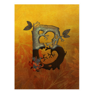 Monograma B da árvore do outono Cartão Postal
