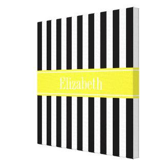 Monograma branco preto do nome do amarelo da listr