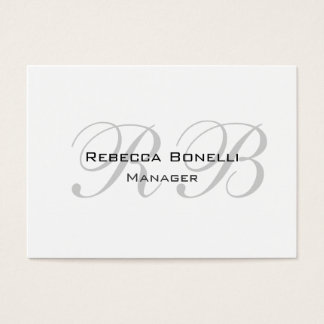 Monograma cinzento branco original exclusivo cartão de visitas
