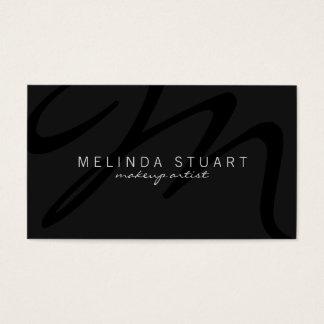 Monograma cinzento escuro moderno profissional cartão de visitas