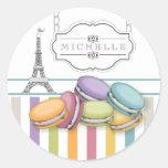 Monograma colorido da torre Eiffel de Paris Adesivo