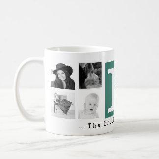 Monograma com 8 fotos e personalizações caneca de café