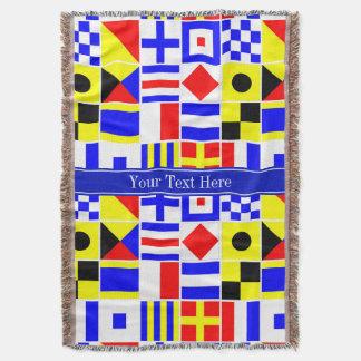 Monograma conhecido real colorido das bandeiras de throw blanket