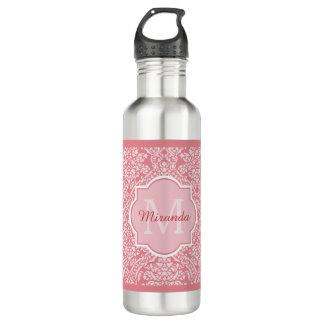 Monograma cor-de-rosa bonito da cor damasco com
