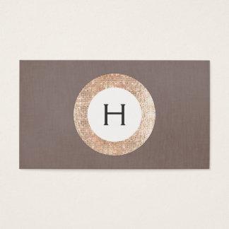 Monograma cor-de-rosa do Sequin do ouro do FALSO Cartão De Visita