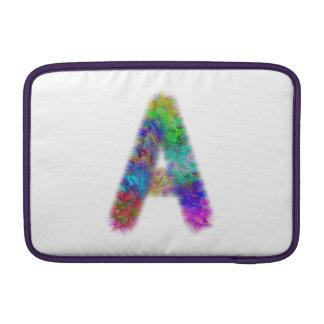 Monograma da letra A do Fractal Bolsa De MacBook