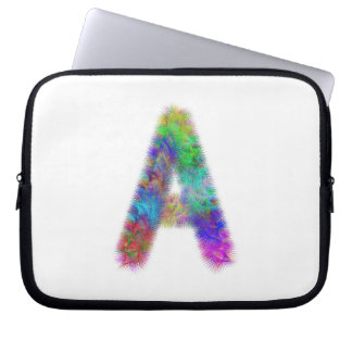Monograma da letra A do Fractal Bolsa E Capa Para Computadore