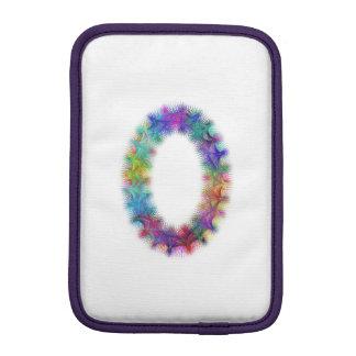 Monograma da letra O do Fractal Luvas iPad Mini