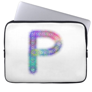 Monograma da letra P do Fractal Capa De Computador Notebook