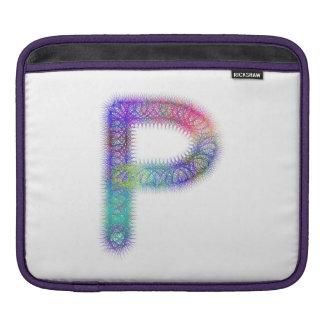 Monograma da letra P do Fractal Capas Para iPad