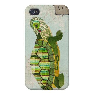 Monograma da tartaruga do jade mim capas iPhone 4