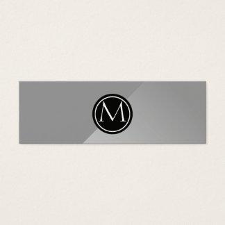 Monograma de aço cartão de visitas mini