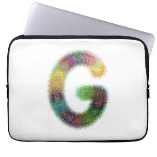 Monograma de G da letra do Fractal Capa Para Laptop