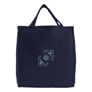 Monograma do bolsa da flor de lis