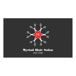 Monograma do preto do cabeleireiro do cabeleireiro cartão de visita