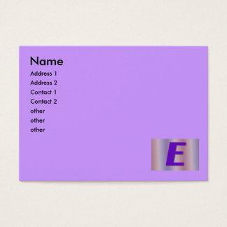 Monograma do roxo de E Cartão De Visitas