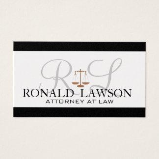 Monograma dos cartões de visitas do advogado do