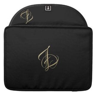 Monograma dourado da inicial Z Bolsa Para MacBook Pro