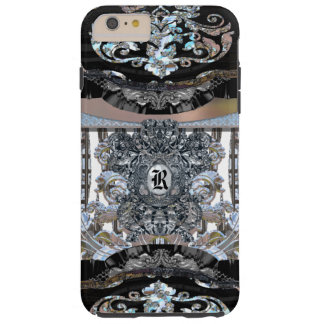 Monograma elegante 6/6s de Revforth Capa Tough Para iPhone 6 Plus