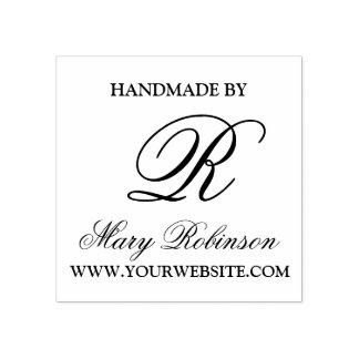 "Monograma elegante do negócio ""Handmade por "" Carimbo De Borracha"