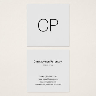 Monograma elegante minimalista do escritório do cartão de visitas quadrado