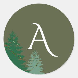 Monograma Enchanted do feriado da estação Adesivo