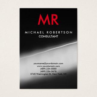 Monograma especial na moda vermelho cinzento cartão de visitas