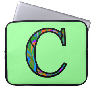 Monograma iluminado centímetro cúbico capas de computadores notebooks