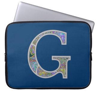 Monograma iluminado Gg Capa Para Computador