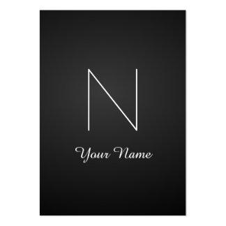 Monograma impressionante extravagante elegante cartão de visita grande