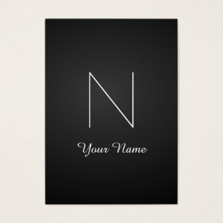 Monograma impressionante extravagante elegante cartão de visitas