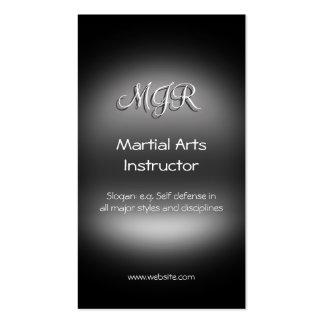 Monograma, instrutor das artes marciais, cartão de visita