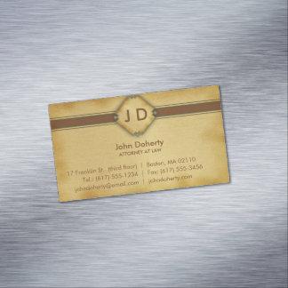 Monograma Lawer - cartão de visita profissional