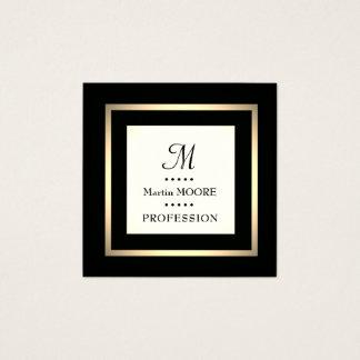 Monograma luxuoso elegante elegante quadro cartão de visitas quadrado