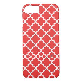 Monograma marroquino do design 3 do azulejo do capa iPhone 8/7