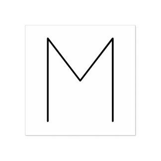 Monograma minimalista moderno à moda carimbo de borracha